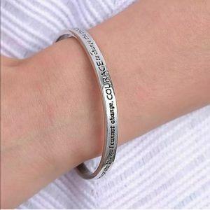 Serenity Prayer Silver Cuff Bracelet Bangle Stack